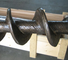 Screw feeder shaft